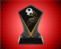 BLACK DIAMOND CERAMIC SOCCER AWARD 5 3/4 INCH