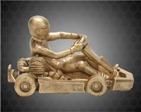 "4 1/2"" x 7"" Gold Go Kart Resin"