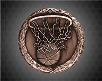 2 inch Bronze Basketball XR Medal