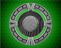 2 1/2 inch Silver Volleyball BG Medal
