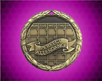 2 inch Gold Perfect Attendance XR Medal