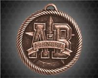 "2 inch Bronze ""A-B"" Honor Roll Value Medal"
