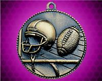 2 inch Gold Football Die Cast Medal