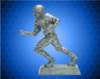 "10 1/2"" Pewter Football Runner Resin"