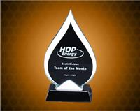 8 1/2 inch Tear-Drop Glass Award