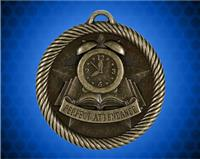2 inch Gold Perfect Attendance Value Medal
