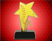 "6"" Softball Color Sport Star Resin"