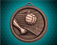 2 inch Bronze Volleyball Value Medal