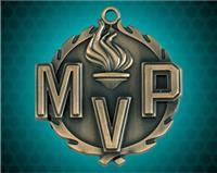 1 3/4 inch Gold MVP Wreath Medal