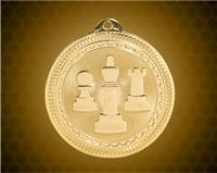 2 inch Gold Chess Laserable BriteLazer Medal