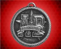 "2 inch Silver ""A-B"" Honor Roll Value Medal"