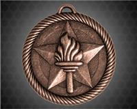 2 inch Bronze Torch Value Medal