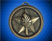 2 inch Gold Torch Value Medal