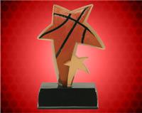 "6"" Basketball Color Sport Star Resin"