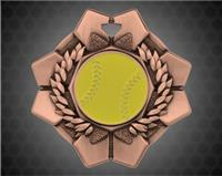 2 inch Bronze Softball Imperial Medal