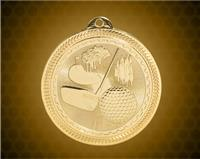 2 inch Gold Golf Laserable BriteLazer Medal