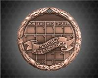 2 inch Bronze Perfect Attendance XR Medal