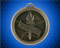 2 inch Gold Physical Education Value Medal