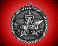 2 inch Silver Attendance Value Medal