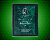 7 x 9 Inch Green Marble Border Clear-Plaq Acrylic