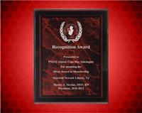 7 x 9 Inch Red Marble Border Clear-Plaq Acrylic