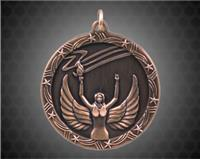 2 1/2 inch Bronze Victory Shooting Star Medal