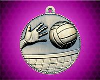 2 inch Gold Volleyball Die Cast Medal