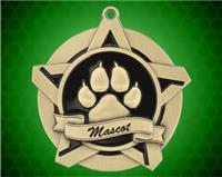 2 1/4 inch Gold Mascot Super Star Medal