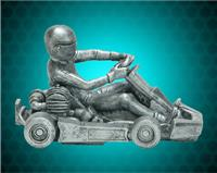 "4 1/2"" x 7"" Pewter Go Kart Resin"