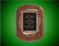 11 x 15 inch American Walnut Furniture-Finish Plaque with Antique Bronze Frame
