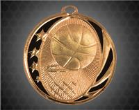 2 inch Bronze Basketball Laserable MidNite Star Medal