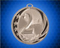 2 inch Silver 2nd  Place Laserable MidNite Star Medal