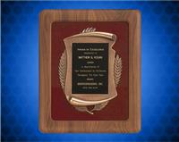 14 x 17 inch American Walnut Plaque with Antique Bronze Frame