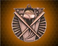 2 Inch Bronze Baseball Victory Medal