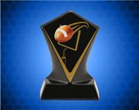BLACK DIAMOND CERAMIC FOOTBALL AWARD 4 3/4 INCH