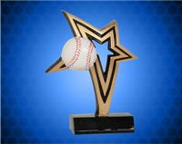 6 Inch Baseball Infinity Star Resin