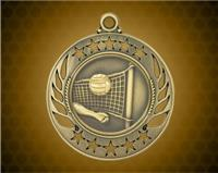 2 1/4 inch Gold Volleyball Galaxy Medal