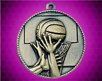 2 inch Gold Basketball Die Cast Medal