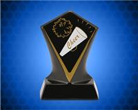 BLACK DIAMOND CERAMIC CHEER AWARD 4 3/4 INCH