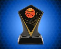 BLACK DIAMOND CERAMIC BASKETBALL AWARD 4 3/4 INCH
