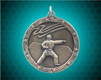 1 3/4 inch Gold Karate Shooting Star Medal