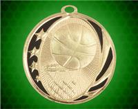 2 inch Gold Basketball Laserable MidNite Star Medal