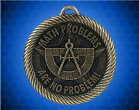 "2 inch Gold ""Math Problems are No Problem"" Value Medal"