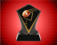 BLACK DIAMOND CERAMIC FOOTBALL AWARD 5 3/4 INCH