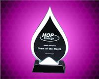 7 1/2 inch Tear-Drop Glass Award