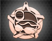 2 1/4 inch Bronze Swimming Super Star Medal