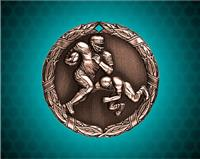 1 1/4 inch Bronze Football XR Medal
