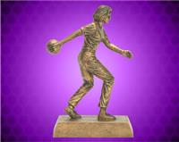 "8"" Gold Female Bowling Resin"