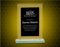 7 1/2 Inch Contemporary Glass Full Border Award