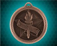 2 inch Bronze Physical Education Value Medal